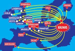 Ryanair bilietai iš Kauno