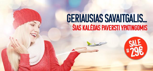 Lėktuvo bilietai - gera dovana!